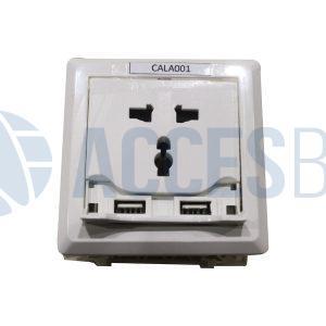 Cargador de laptop Doble USB blanco 250V Imp.