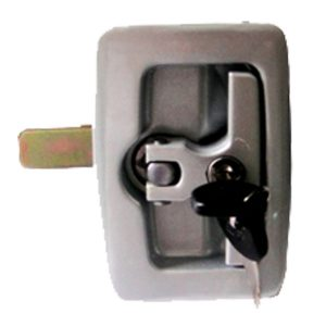 "Chapa de bodega Aluminio C/jalador ""T"" LD  IMP."