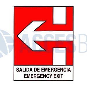 Logo salida de emergencia C/Flechas