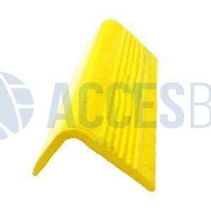 Perfil Cantonera PVC 7 Líneas amarillo S/Ranura x 6m